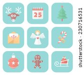 funny christmas quiet colors... | Shutterstock .eps vector #230716531