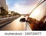 car ride on road in sunny... | Shutterstock . vector #230720077