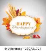happy thanksgiving card. vector ...   Shutterstock .eps vector #230721727