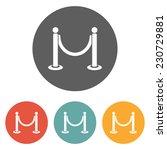 barricade icon | Shutterstock .eps vector #230729881