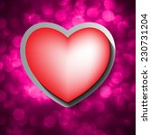 paper red heart banner with... | Shutterstock .eps vector #230731204