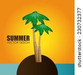 summer design over beachscape...   Shutterstock .eps vector #230732377