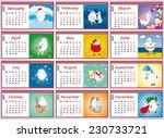 calendar 2015 with a set of... | Shutterstock .eps vector #230733721