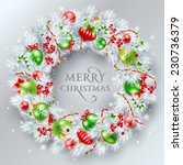 christmas decoration. the... | Shutterstock .eps vector #230736379