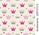 little princess seamless... | Shutterstock .eps vector #230737171