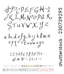 alphabet and numbers   hand... | Shutterstock .eps vector #230739295