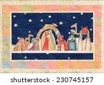 christmas nativity scene. jesus ... | Shutterstock . vector #230745157