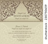 orient east invitation card in... | Shutterstock .eps vector #230750659