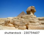 sphinx and pyramid in giza ... | Shutterstock . vector #230754607