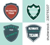 ultimate shield product retro... | Shutterstock .eps vector #230755237