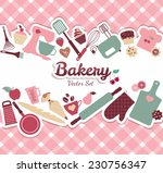 bakery and sweets abstract... | Shutterstock .eps vector #230756347