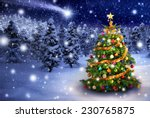 magnificent colorful christmas... | Shutterstock . vector #230765875