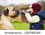 little boy with camera is... | Shutterstock . vector #230768269