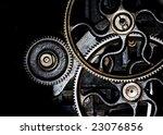 horizontal gears background | Shutterstock . vector #23076856