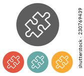 puzzle icon | Shutterstock .eps vector #230769439
