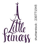 a little princess lettering... | Shutterstock .eps vector #230771545