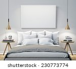 mock up blank poster on the...   Shutterstock . vector #230773774