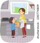 illustration featuring a boy...   Shutterstock .eps vector #230774809