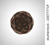 black and orange geometric shape | Shutterstock . vector #230777719