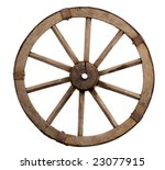 Old Wheel From A Cart On A...