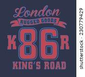 college london typography   t... | Shutterstock .eps vector #230779429