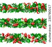 holly. christmas seamless... | Shutterstock .eps vector #230780017