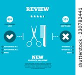 review with five stars rating.... | Shutterstock .eps vector #230782441
