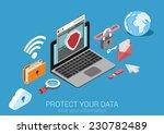 flat 3d web isometric online... | Shutterstock .eps vector #230782489
