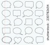 hand drawn speech bubbles on a... | Shutterstock .eps vector #230782654