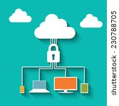 cloud computing security... | Shutterstock .eps vector #230788705