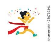 woman marathon runner  winner