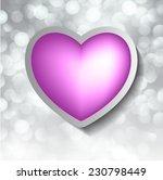 purple heart banner with drop... | Shutterstock .eps vector #230798449