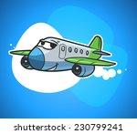 cartoon passenger plane