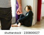man beating up his wife... | Shutterstock . vector #230800027