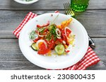 summer salad with tomatoes ... | Shutterstock . vector #230800435