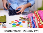 fashion design  close up | Shutterstock . vector #230807194