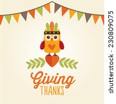 happy thanksgiving day card ... | Shutterstock .eps vector #230809075