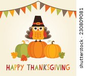 happy thanksgiving day card ... | Shutterstock .eps vector #230809081