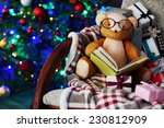 Teddy Bear With Book And Gift...