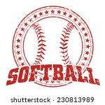 softball design   vintage is an ... | Shutterstock .eps vector #230813989