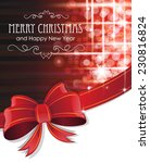 red christmas and new year... | Shutterstock .eps vector #230816824