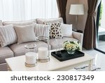 modern living room design with... | Shutterstock . vector #230817349