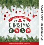 christmas sale poster | Shutterstock .eps vector #230818909