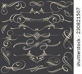 chalk calligraphic vignettes... | Shutterstock .eps vector #230821507