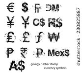 grungy rubber stamp currency... | Shutterstock .eps vector #230825887