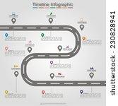 road infographic timeline... | Shutterstock .eps vector #230828941
