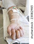 close up of a patient's hand...   Shutterstock . vector #23082985