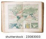 opened map book   Shutterstock . vector #23083003