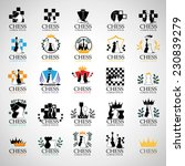 chess icons set   isolated on...