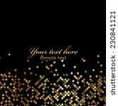 vector luxury black background... | Shutterstock .eps vector #230841121